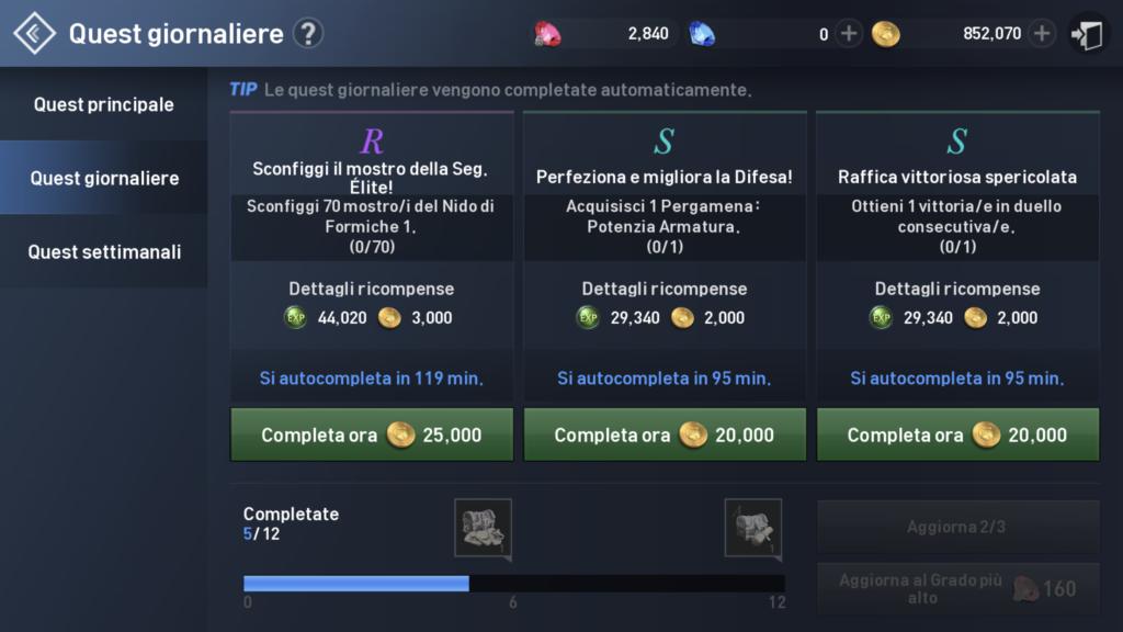 Lineage 2 Revolution - missioni giornaliere