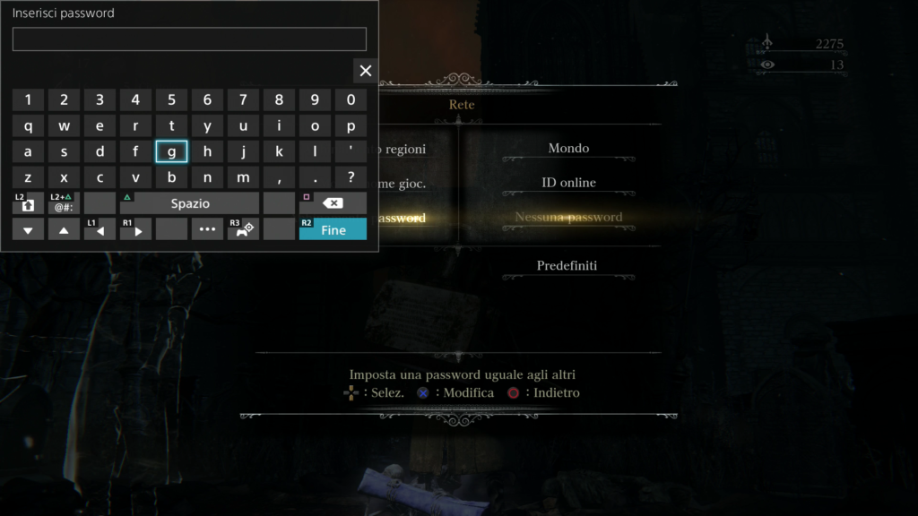 Bloodborne Password multiplayer