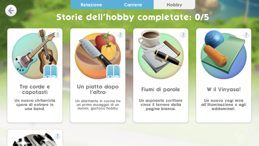 The Sims Mobile Hobby