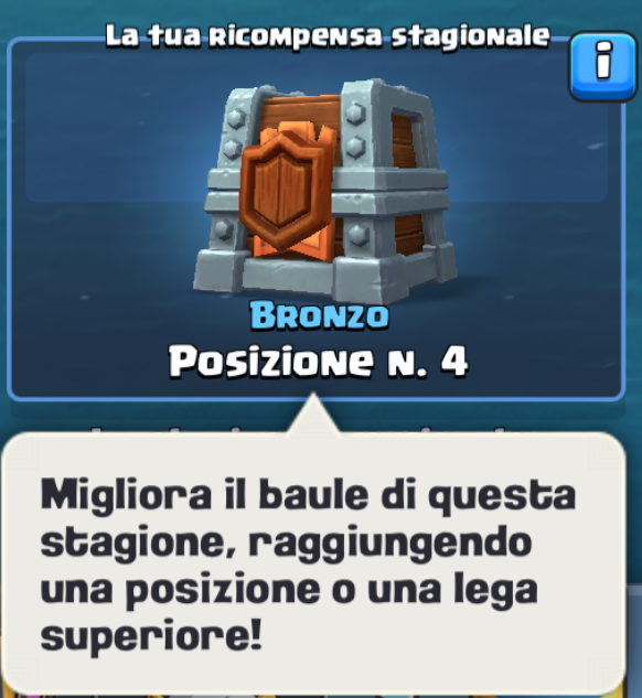 Clash Royale guerra tra clan forziere di guerra stagionale