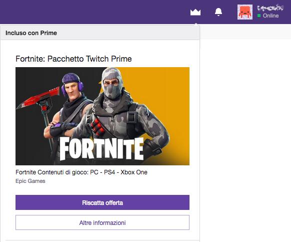 fortnite twitch prime 2