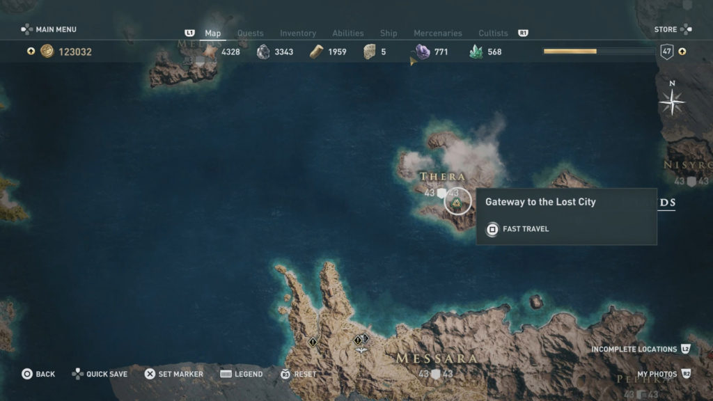 Atlantide in Assassin's Creed Odyssey