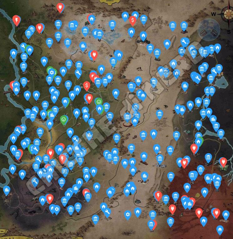 Fallout 76 Mappa Interattiva